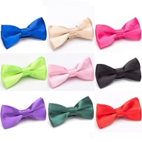 Children Bow Tie Classic Kid Bowtie Boys Grils Ties Baby Fashion Accessories Solid Color Green Red Black Blue Pets Cravate
