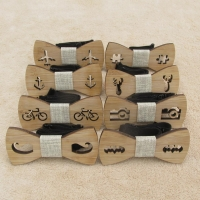Classic Bamboo Wood Children Bow Ties Laser Cut Wooden Kids Butterfly Bow knots Gravatas Cravat