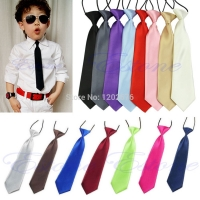 Fashion School Boys Children Kids Baby Wedding Solid Colour Elastic Tie Necktie