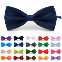 Fashion Mens Bow Ties Bowtie Tuxedo Classic Solid Color Wedding Party Red Black White Green Butterfly Cravat Brand