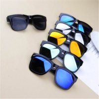Children sunglasses 2018 new fashion square kids Sunglasses boy girl Square goggles Baby travel glasses 6 colors optional UV400