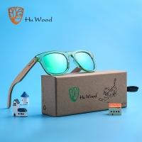 HU WOOD Brand Design Children Sunglasses Multi-color Frame Wooden Sunglasses for Child Boys Girls Sunglasses  Wood GR1001