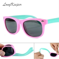 LongKeeper Kids Sunglasses Children Polarized Lenses Glasses Girls Boys Silicone UV400 Child Mirror Baby Eyewear Gafas KPR01