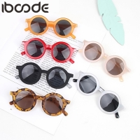 iboode 2019 Fashion Kids Sunglasses Round Frame Boys Girls Sun Glasses Children Baby Eyeglasses UV400 Shades Oculos Gafas De Sol