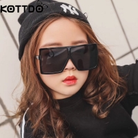 KOTTDO square kids sunglasses girls baby boys festival punk oversized sunglasses uv400 glasses children oculos de sol masculino