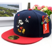 Spring new children's hat Color matching embroidery  flat along baseball caps Baby hip hop boy and girl sun hat kids Snapback