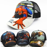 2018 Korean children's hat cartoon mesh baseball caps baby boys and girls summer shade breathable cap kids sun protection hats