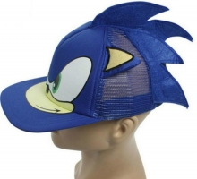 New 3D 1pcs blue Cute Boy Sonic The Hedgehog Cartoon Youth Adjustable Baseball Hat Cap Blue For Boys Hot Selling party gifts