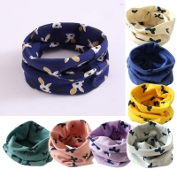Cute Cotton Kids Scarf Star Animal Print Children Spring Warm Scarves Boys Girls Neck Collar O Ring Scarf
