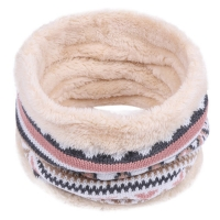 Child Winter Warm Knitted Ring Scarves Print Thick Inside Super Elastic Knit Mufflers Boy Girls Children Neck Warmers