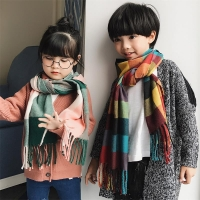 Children's Imitation cashmere Soft Scarf Plaid Beautiful Pattern Pleasant Material Long Pashmina Free Shipping