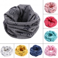 Newly Children Kids Scarf Scarves Warm Loops Neckerchief Smile Face Stars For Winter