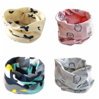 Spring Baby Scarf  Kids Child Cotton Scarves Boys Girls O Ring Scarf Children Collars Neck Scarf