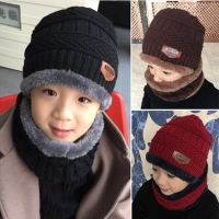 URDIAMOND Winter Scarf Hat Set Boys Girls Unisex Fashion Children's Hat Knitted Cute Collar Cotton Outdoors High Quality