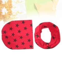 New Stars Solid Crochet Style Kids Hat Scarf Autumn Winter Girls Tops Baby Boys Scarf Hat Child Hats Cap Baby Scarf