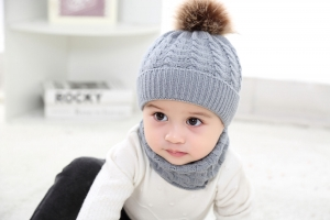 2018 parent child 2pcs warm Winter Beanies Knitted Hat and scarf for 0-3 years old girls and boys students Hats Caps Hat