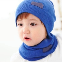 2019 New 6 Colors Baby Caps Scarf Cute Winter Autumn Knitted And Neckerchief Suit Children Winter Cap Warm Hat For Child Kids