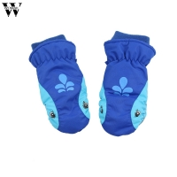 WOMAIL kids gloves Children ski shark thickening play snow waterproof cute gloves  Snow Waterproof Lovely Outdoor Warm Gloves