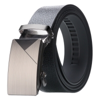 Luxury Brand Men's Automatic Buckle Belt PU Leather Business And Leisure Wide Strap For Male New Design Strap For Young People