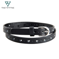 High quality children's belt kids belt with heart shipped holes pu kids waist belts fast delivery