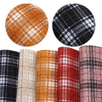 20*34cm Plaid Fine Glitter Faux Synthetic Leather Set ,DIY handmade materials for hair bow shoes Handbag Phone Case DIY,1Yc7549