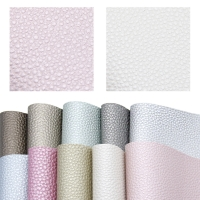 20*34cm 10Pcs Litchi Pattern Synthetic Leather Set ,DIY Handmade Materials For Making Home Events Book Cover,1Yc7308