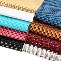 9Pieces/set 20*34cm Bump Hexagonal Pattern Litchi Faux Synthetic Leather DIY Handmade Sewing Accessories,1Yc6203