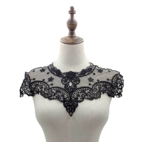 Water-soluble lace embroidery embroidery embroidery milk wire hollow chest flower collar false collar cut net network