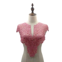 Water-soluble lace collar, polyester silk embroidery chest, three-dimensional hollow collar, front collar and rear collar