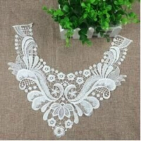Embroidery Collar Floral Embroidered Applique Lace Neckline Collar Garment Accessories Scrapbooking