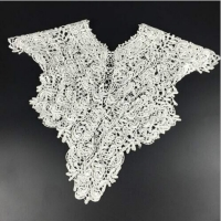 Black and White Lace Collar Embroidery Big Flowers Lace Neckline Fabric DIY Collar Lace Fabrics for Sewing Supplies Crafts