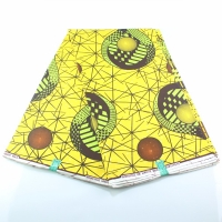 Yellow African Cotton Print Fabric Ankara Cotton Material Wholesale Retail Wax New African Wax Print Fabric