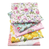 50*145cm Flowers Series Printed High Quality Cotton Fabric Sheet ,DIY handmade materials for Tissue Kids home textile ,1Yc731