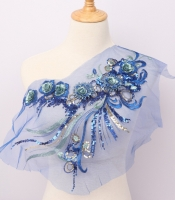 DIY sewing dresses flower applique 3D Applique lace embroidery