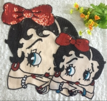 2019 New Fashion DIY Applique Embroidery Applique Costume Decoration Dimensional Patch Beautiful Girl