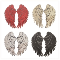 wings patch T-shirt clothing accessories DIY sequin patch with adhesive