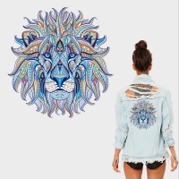 Personality color lion head hot transfer hot hot stamping Ke type hot stamping pattern DIY costume pack stamp