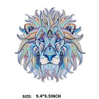 2019 new personalized color lion head thermal transfer offset heat transfer pattern DIY clothing bags printing stickers