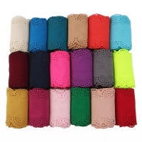 90mm 2yard/roll Plain Color Knitting Lace Flax Ribbon 2 yards, handmade materials for gift decoration packing,2Yc6751