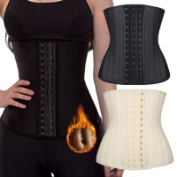 25 steel bone Rubber Waist Trainer Cincher Corset Belly Slimming Loss Girdle fajas reductoras y modeladoras mujer Colombianas