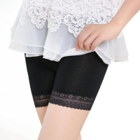 New Sexy Women Safety Short Pants Elastic Anti Chafing Lace Trousers underwear Middle Waist Safety Short Pants New /PY