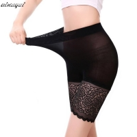 high waist safety short pants breathable slim underwear knickers sexy lace shorts under skirt casual summer panties boyshort