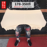 MAX 175KG Plus size High waist ice cotton Breathable pants,lace anti chafing legs for larger pants Safety Short Pants women 6XL