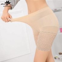 Summer Style Ladies Boxer Short Safe Pants Bamboo boyshort underpants with Lace Plus big Sizes ladies' underwear 1 piece