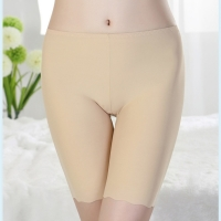 Women's Soft Seamless Safety Short Pants Summer Under Skirt Shorts Ice Silk Breathable Short Tights Invisible Safety Short Pants