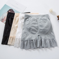 2019 Spring and Summer New Lace Safety Short Pants Large Size 4 Colors Under Skirts Seamless Modal Lace Ladies Underwear AA983