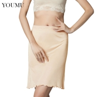 Petticoat Woman Slip Imitated Silk Petticoat Half Slips Underskirt Midi Fit Sexy Lingerie Underdress M-XL New Fashion 207-086