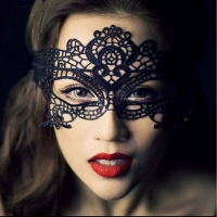 Lace Slips Hot Sale women black Eyelash Eye Mask lace transparent Half slips hot intimates underwear Costumes Babydoll Tempation