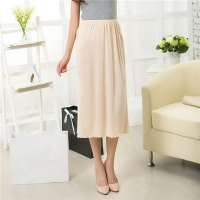Women Half Slips Solid Casual Petticoat Skirt Knee Length Dress Lady Underskirts Vestidos Bottoming Skirts Underdress Sleepwears