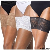 1Pair Ladies Sexy Lace Anti-Friction Non-Slip Thigh Socks For Women Plus Size Black White Lace Leg Warmers Care Summer Garters